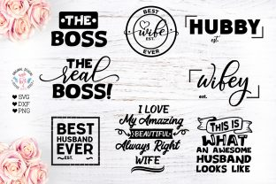 Husband and Wife Mini Bundle Graphic Crafts By GraphicHouseDesign