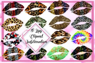 Lips Mouth Clipart Sublimation Png Graphic Print Templates By DenizDesign