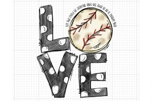 Love Baseball Sublimation Design Graphic Crafts By Tori Designs