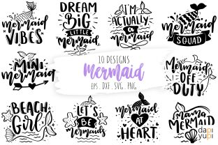 Mermaid Quotes Bundle, Mermaid Bundle Graphic Crafts By dapiyupi