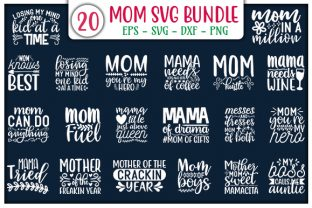 Print on Demand: Mom SVG Design Bundle Graphic Print Templates By GraphicsBooth