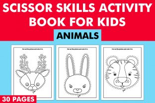 Print on Demand: Scissor Skills Activity Book for Kids Graphic KDP Interiors By Mah Moud