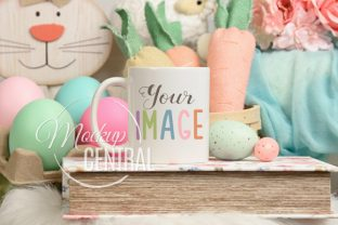 Spring Easter Coffee Mug Glass Mockup Graphic Product Mockups By Mockup Central