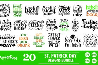 St Patrick's Day SVG Designs Bundle File Graphic Print Templates By PatternFeed