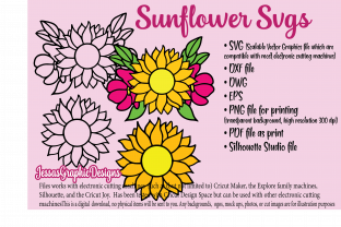 Print on Demand: Sunflower SVGS Graphic Crafts By JessasGraphicDesgins