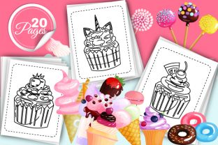 Print on Demand: Sweet Cupcakes Coloring Pages - Vol 2 Graphic Coloring Pages & Books Kids By Trend Color