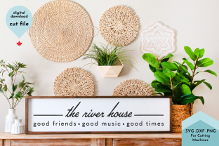 Print on Demand: The River House SVG Cut File Graphic Crafts By Lettershapes