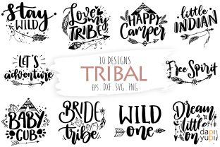Tribal Quotes, Boho Quotes, Bohemian SVG Graphic Crafts By dapiyupi