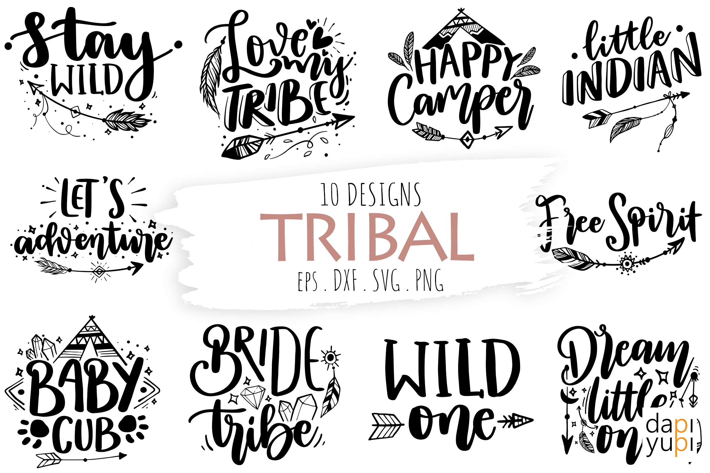 Tribal Quotes, Boho Quotes, Bohemian SVG SVG File