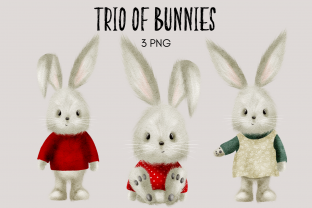 Print on Demand: Trio of Bunnies Graphic Illustrations By Celebrately Graphics