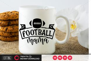 Print on Demand: Football Mama SVG Graphic Crafts By PrintableSvg