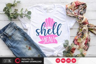 Print on Demand: Shell Yeah Svg Graphic Crafts By PrintableSvg