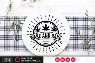 Print on Demand: Wake and Bake Svg Graphic Crafts By PrintableSvg