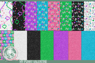My Punky Valentine Backgrounds Graphic Backgrounds By QueenBrat Digital Designs
