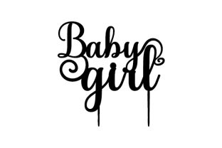 Baby Girl Cake Topper Children Craft Cut File By Creative Fabrica Crafts