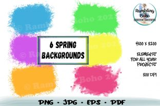 Print on Demand: 6 Spring Backgrounds Graphic Backgrounds By RamblingBoho