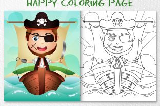 A Cute Boy Pirates - Copy the Picture Graphic Coloring Pages & Books Kids By wijayariko