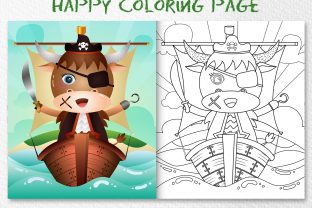 A Cute Buffalo Pirates - Coloring Page Graphic Coloring Pages & Books Kids By wijayariko