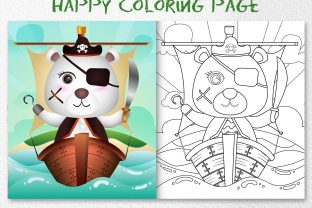 A Cute Polar Pirates - Coloring Page Graphic Coloring Pages & Books Kids By wijayariko