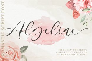 Print on Demand: Algeline Script & Handwritten Font By Blankids Studio