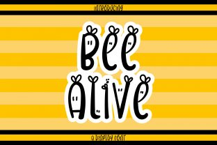 Print on Demand: Bee Alive Display Font By Wanida Toffy