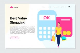 Print on Demand: Best Value Shopping Landing Page Graphic Landing Page Templates By Riduwan Molla