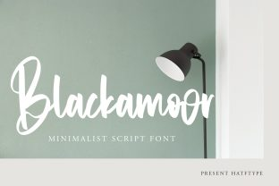 Print on Demand: Blackamoor Script & Handwritten Font By HaftType