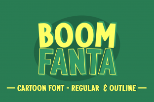 Print on Demand: Boom Fanta Display Font By Creative Fabrica Fonts