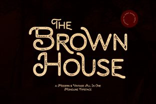 Print on Demand: Brown House Display Font By almarkhatype