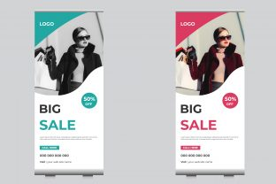 Business Sale Roll Up Banner Graphic Print Templates By sohagmiah_0