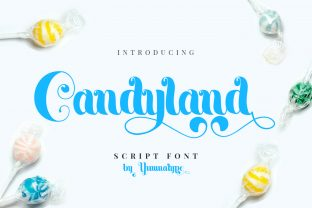 Print on Demand: Candyland Display Font By Yumna_Type