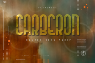 Print on Demand: Carberon Display Font By typealiens