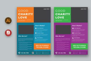 Charity Flyer Design Graphic Print Templates By inpixell.studio