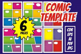 Print on Demand: Comic Template Free Bubble Speech Graphic KDP Interiors By edywiyonopp