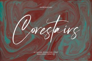 Print on Demand: Corestairs Script & Handwritten Font By Maulana Creative