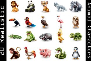 Cute Animals Bundle Collocation Graphic Illustrations By naemislamcmt