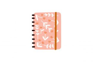 Print on Demand: Cute Floral Notebooks Notepads Planners Graphic Illustrations By Musbila