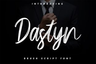 Print on Demand: Dastyn Script & Handwritten Font By Skiiller Studio