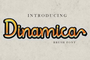 Print on Demand: Dinamica Script & Handwritten Font By Rezastudio