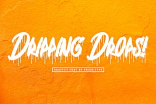 Print on Demand: Dripping Drops Display Font By Prioritype