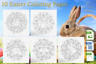 Print on Demand: Easter Coloring Pages Set 7 Graphic Coloring Pages & Books By Webmark