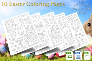 Print on Demand: Easter Coloring Pages Set 8 Graphic Coloring Pages & Books By Webmark