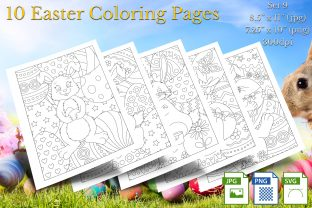 Print on Demand: Easter Coloring Pages Set 9 Graphic Coloring Pages & Books By Webmark