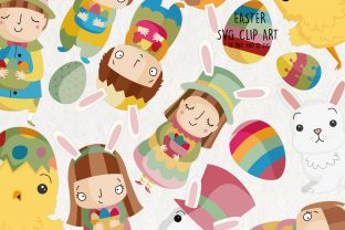 Easter SVG Clipart. Easter Clip Art Graphic Illustrations By NotturnoClipArt