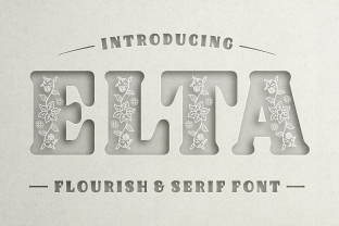 Print on Demand: Elta Decorative Font By Creative Fabrica Fonts