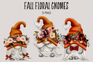 Print on Demand: Fall Floral Autumn Gnomes Graphic Illustrations By Celebrately Graphics