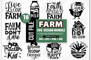Print on Demand: Farm SVG Bundle Graphic Crafts By PrintableSvg