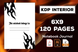 Fire Notebook Journal Graphic KDP Interiors By KDP Midst Design