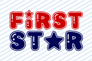 Print on Demand: First Star Display Font By Creative Fabrica Fonts
