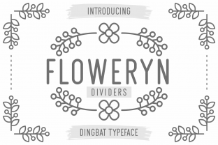 Print on Demand: Floweryn Dividers Dingbats Font By Kelik - 7NTypes